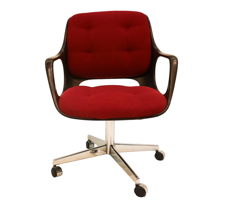 Chromecraft Mid Century Modern Herman Miller Style Office Chair