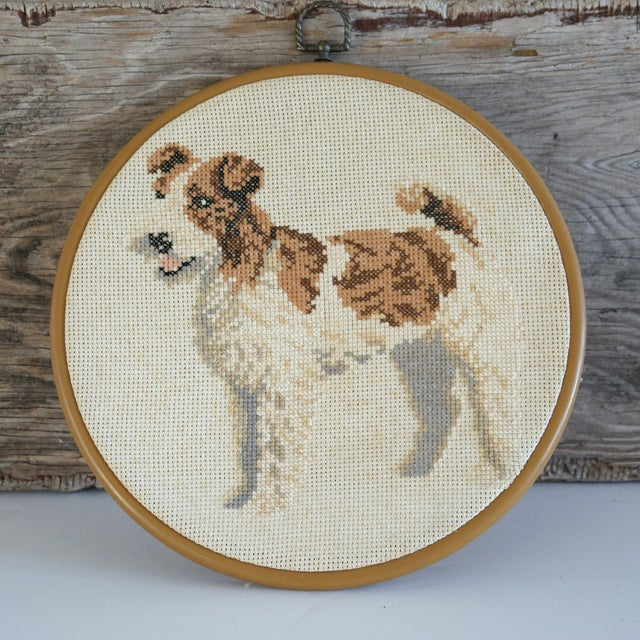 Vintage Needlepoint Fox Terrier - Image 5 of 5