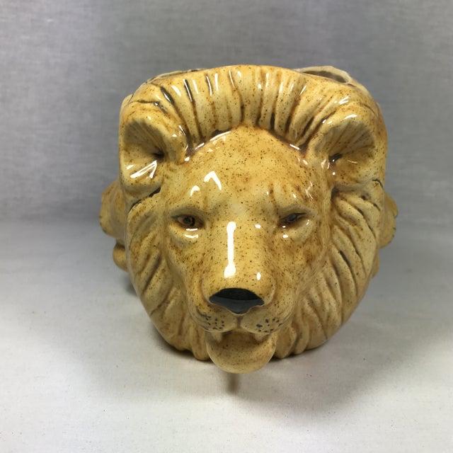 Mid-Century Lion Head Planter or Vase - Image 3 of 11