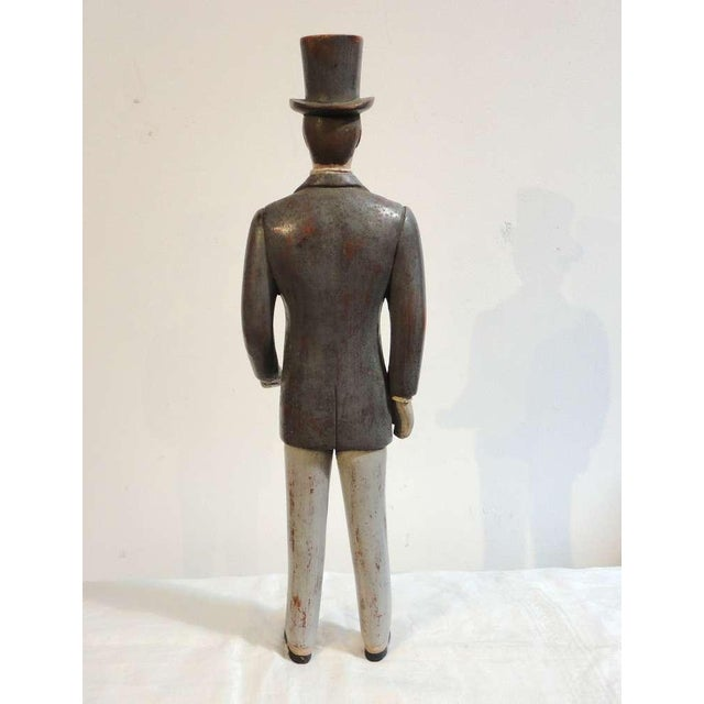 Early 20thc Hand Carved & Painted I.W.Harper Whiskey Man - Image 4 of 10
