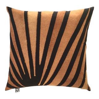 """20"""" Black & Rust Hand Dyed Linen Pillow"""