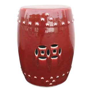 Barclay Butera Oxblood Ceramic Garden Stool