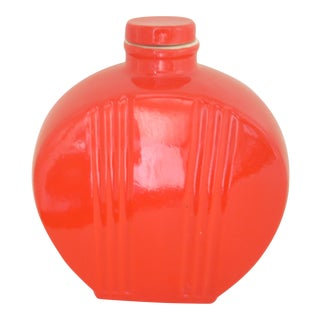 Hall Pottery Vintage Chinese Red Water Bottle