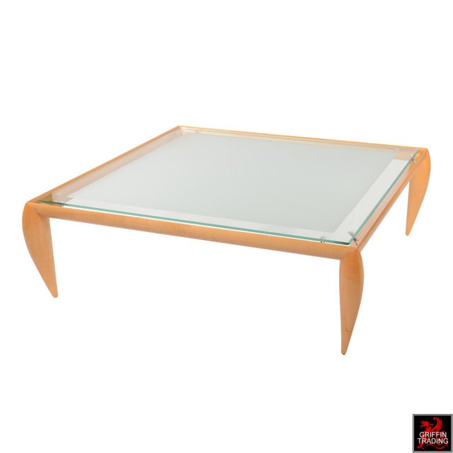 Leggins Square Glass Top Coffee Table by Brueton - Image 3 of 7