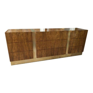 Milo Baughman for Thayer Coggin Rosewood and Brass Sideboard with All Drawers