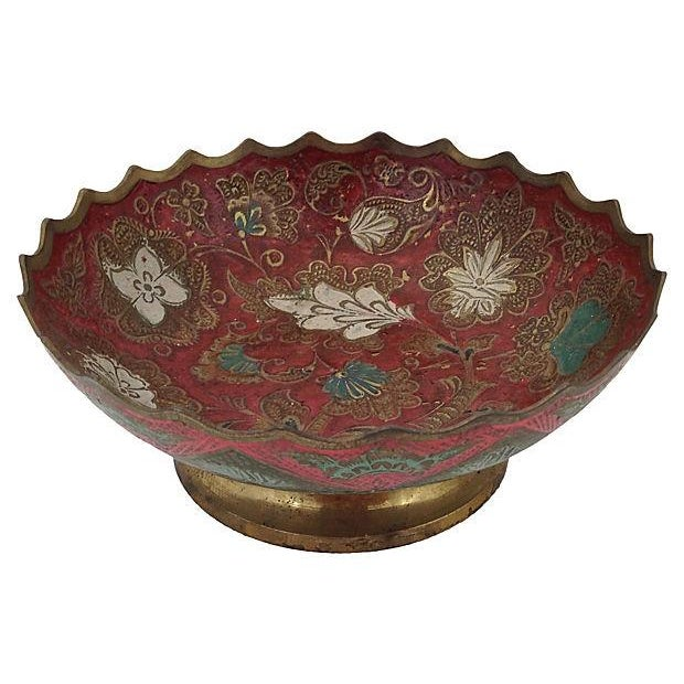 Indian Brass Polychrome Bowls - A Pair - Image 6 of 7