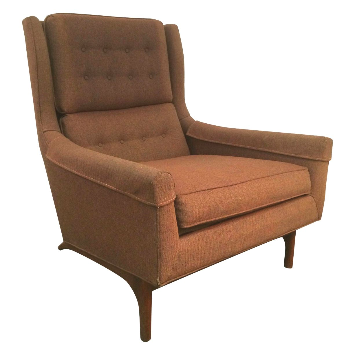 Vintage Goebel Woodworks Danish Modern Wing Chair Chairish