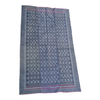 Hand Embroidered Hill Tribe Rug - 3′4″ × 5′