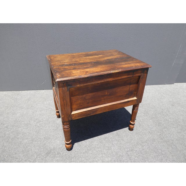 Spanish Style Carved Wood Chest End Table - Image 9 of 11