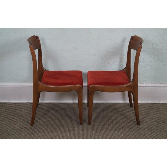 Italian Walnut Midcentury Modern Dining Chairs - 6 - Image 3 of 10