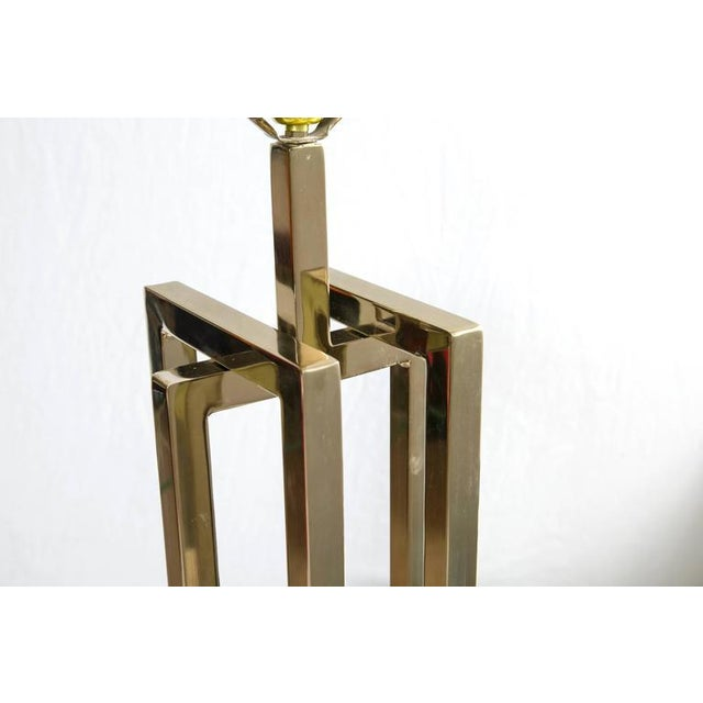 Milo Baughman Brass Deco Floor Lamp - Image 6 of 9