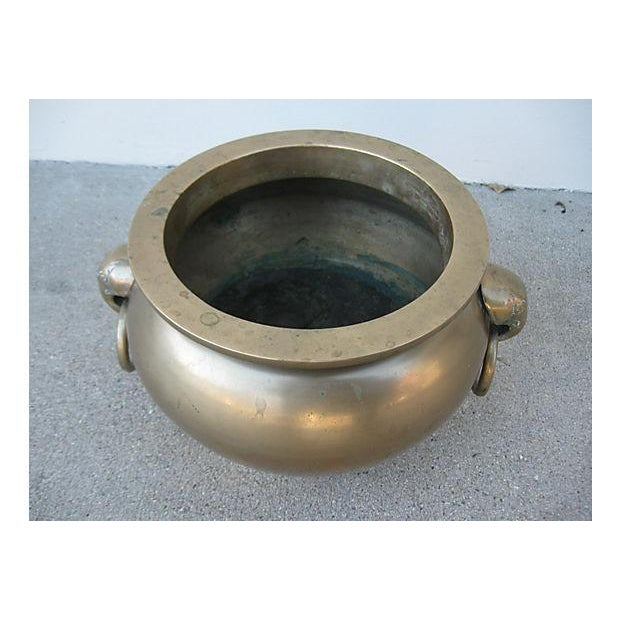 Image of Asian Solid Brass Planter Pot