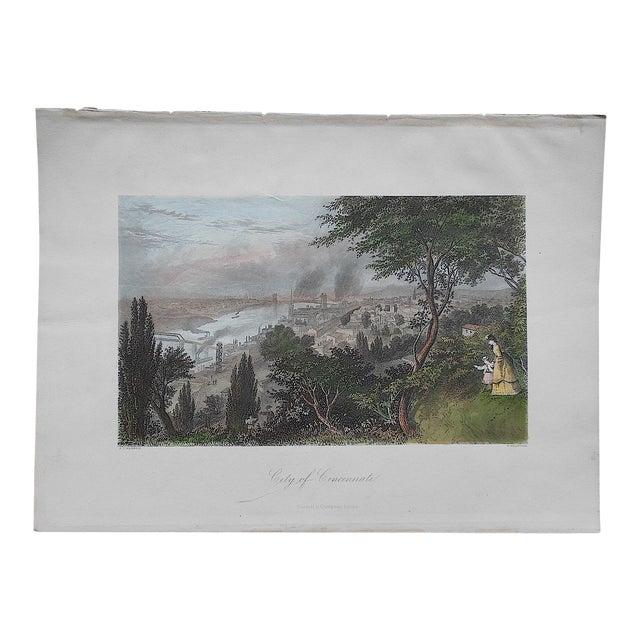 """Antique Engraving """"Cincinnati"""" - Image 1 of 3"""