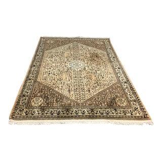 Vintage Persian Abadeh Wool Rug - 6′7″ × 9′8″