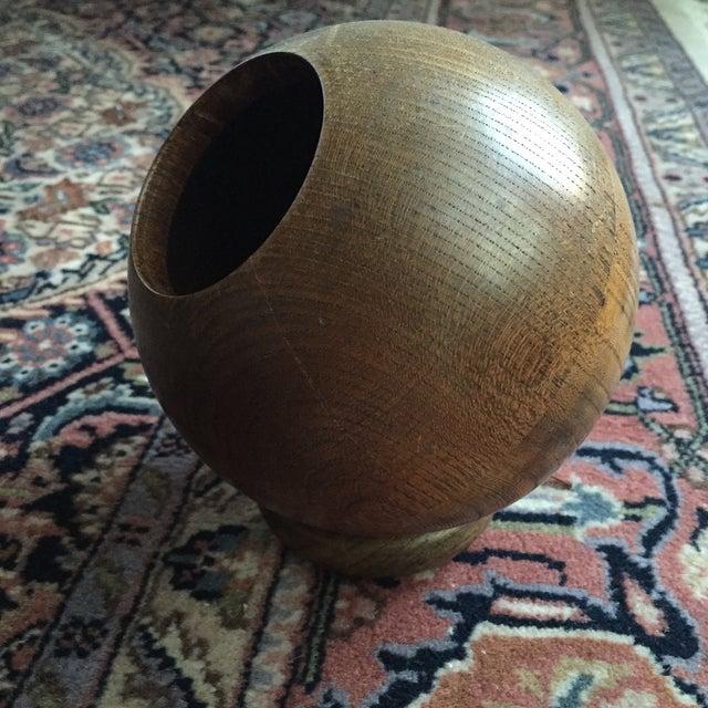 Vintage Round Wooden Dish - Image 3 of 6