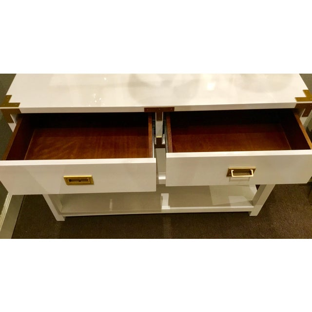 Bungalow 5 Julian White Lacquered Console - Image 7 of 8