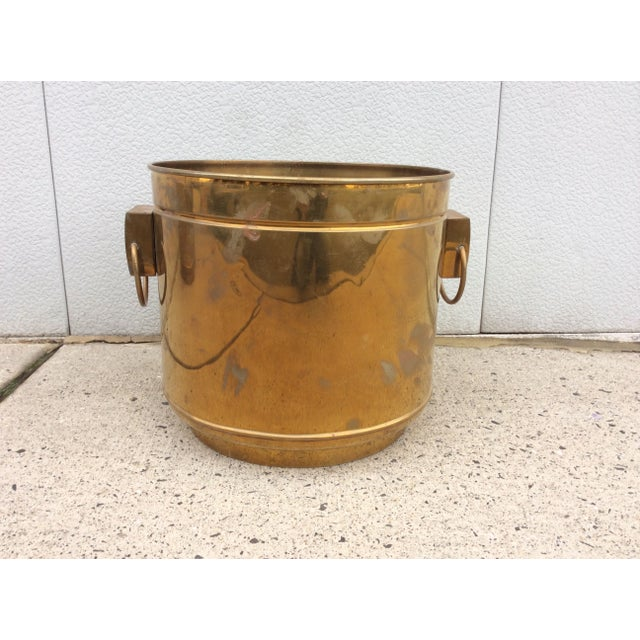 Large Vintage Modern Brass Planters - Image 4 of 7