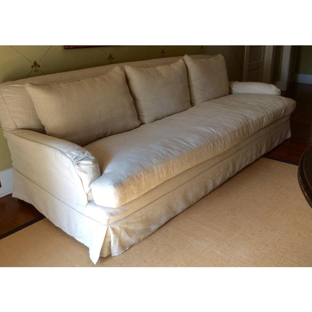 RH Belgian Linen Roll Arm Slipcovered Sofa - Image 2 of 3