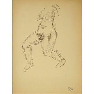 Jennings Tofel Vintage Torso Line Drawing
