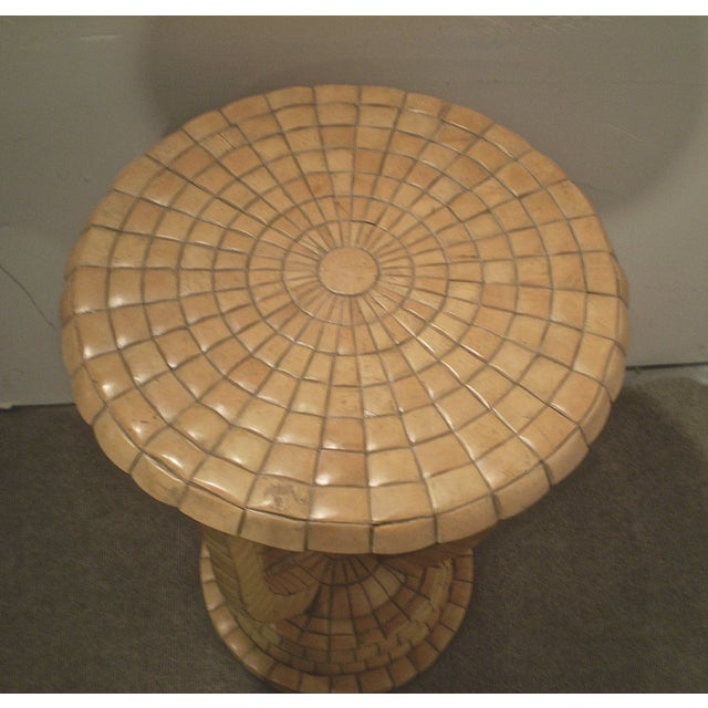 Vintage Tile Side Table - Image 3 of 5