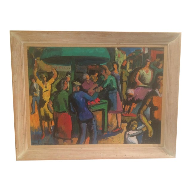 French Expressionist Oil by Pierre Ambrogiani - Image 1 of 7
