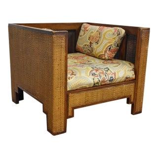 Mid Century Modern Cane Club Chair