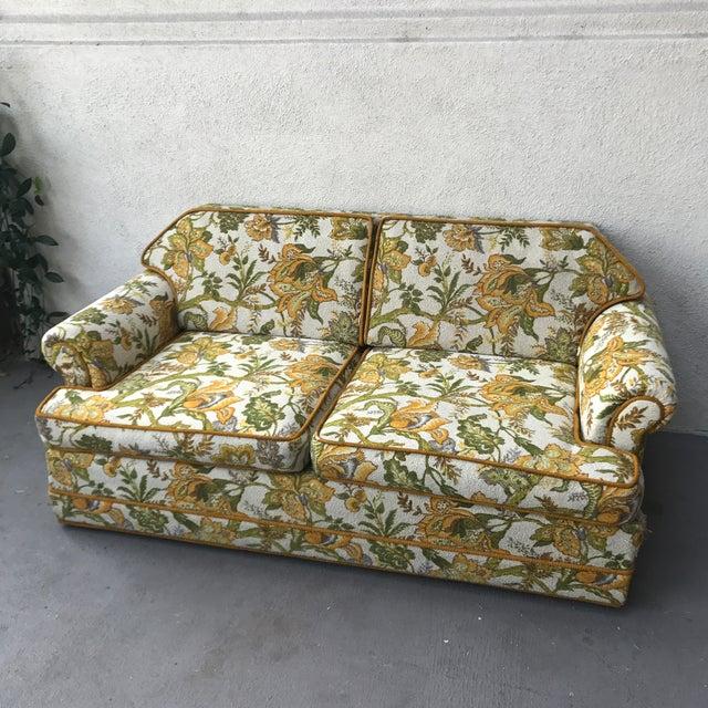 Vintage Mid-Century Modern Upholstered Floral Sofa - Image 8 of 8