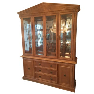 Thomasville Formal Dining Room Oak China Cabinet