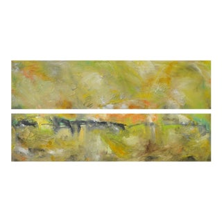"""Equinox"" Original Abstract Landscape Oil Paintings - a Pair"