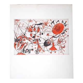Vintage Abstract Lithograph, Joan Miro