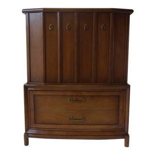 Mid-Century Walnut Highboy Dresser
