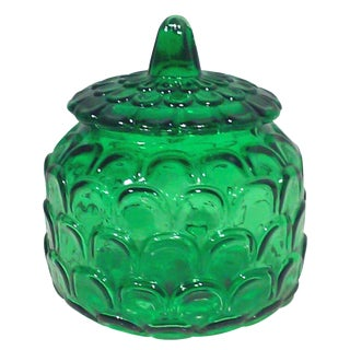 Italian Emerald Green Canister Jar