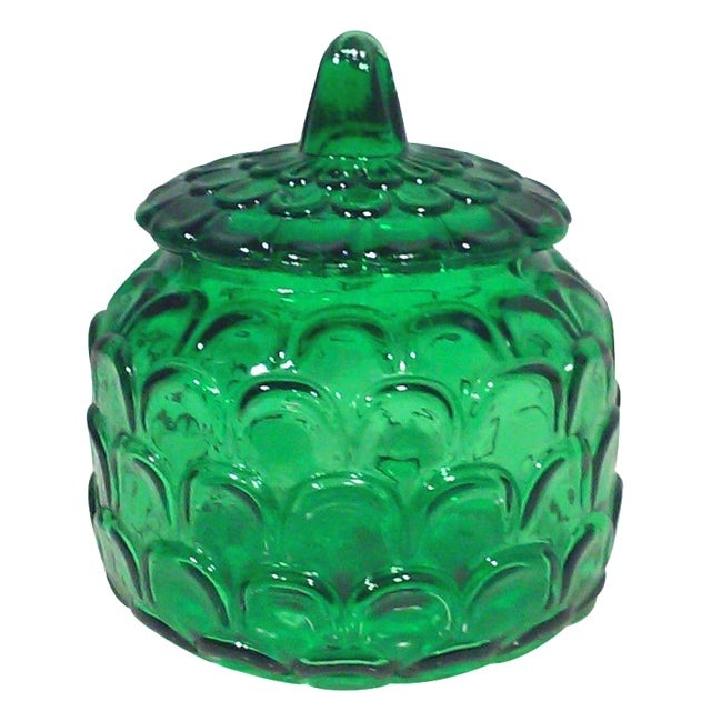 Italian Emerald Green Canister Jar - Image 1 of 5