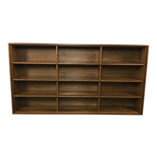 Custom Walnut Wall Bookcase