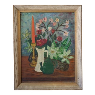 1960s Still Life Oil Painting