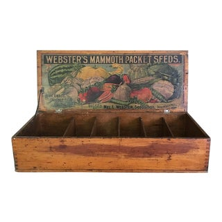Antique General Store Counter Display Seed Box