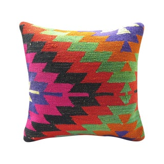 Turkish Kilim Rug Pillow