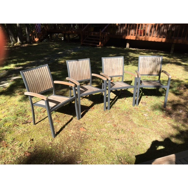 Danish Outdoor Teak Dining Set - S/5 - Image 6 of 9