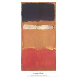 Mark Rothko Untitled Orange Poster