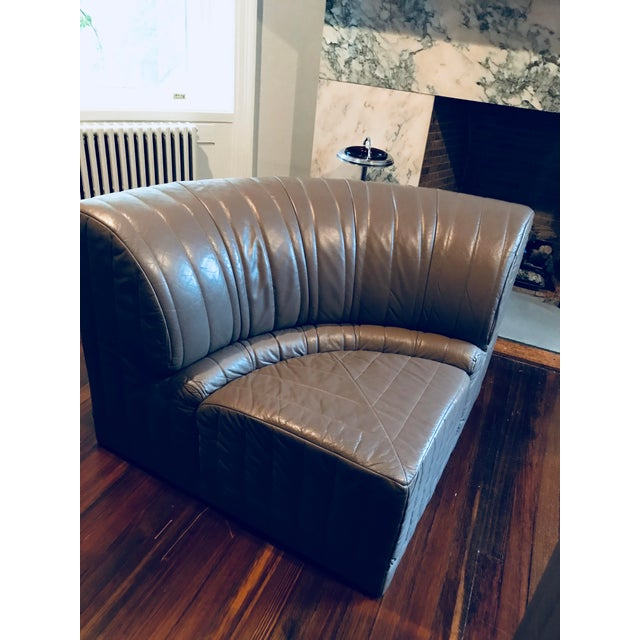 Roche Bobois Leather Sectional Sofa - Image 5 of 11