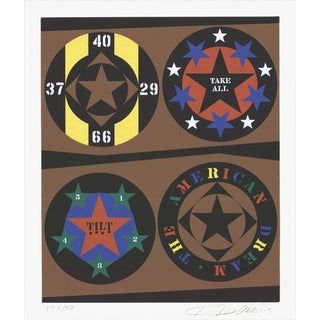 1997 Robert Indiana The American Dream Serigraph