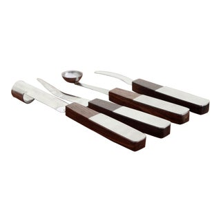Walnut & Brushed Stainless Steel Fruit Tools - Set of 4