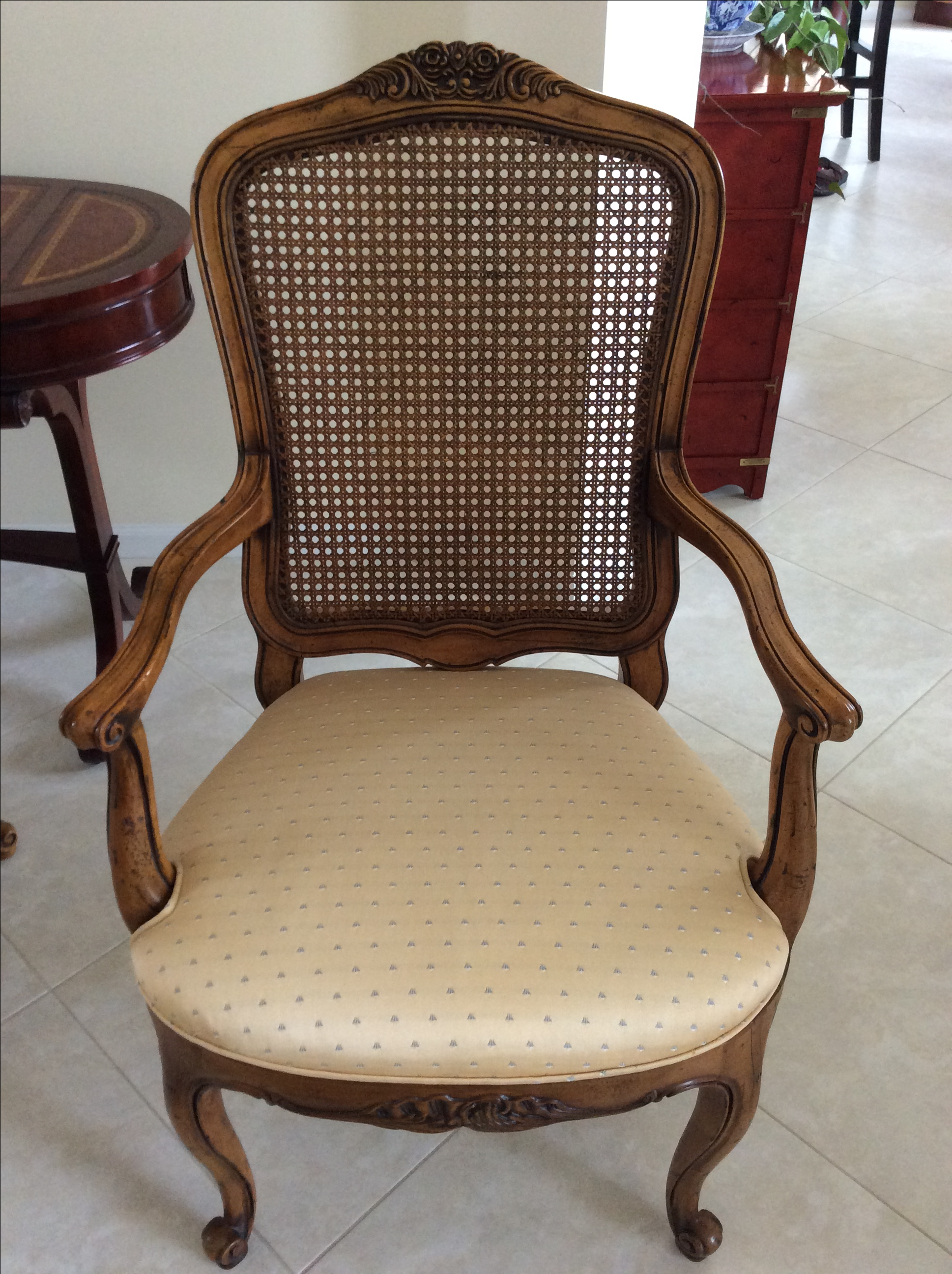 Henredon French Provincial Cane Back Dining Chairs   6   Image 7 Of 9