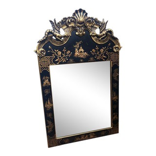 Chinoiserie Asian Dragon Ming Style Mirror