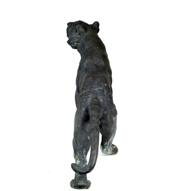 Antique Patinated Bronze Tiger Japan - Image 5 of 7