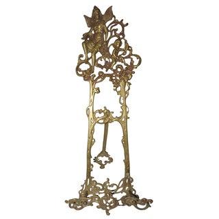Vintage Victorian Fairy Cherub Brass Easel