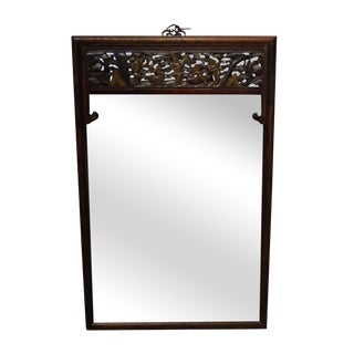 Traditional Carved Wood Mirror