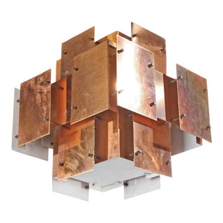 Robert Sonneman Copper Panel Constructivist Chandelier