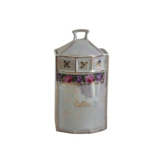 Lusterware Porcelain Coffee Container