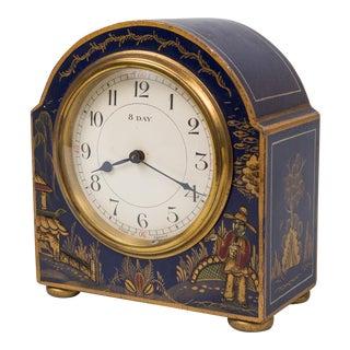 Blue Chinoiserie Desk Clock